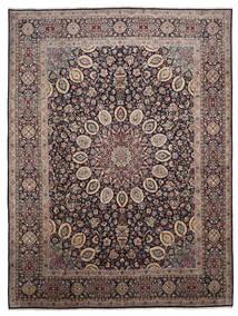 Yazd Tæppe 296X395 Ægte Orientalsk Håndknyttet Mørkebrun/Mørkerød Stort (Uld, Persien/Iran)