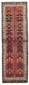 Afshar/Sirjan Tæppe 68X209 Ægte Orientalsk Håndknyttet Tæppeløber Mørkebrun/Mørkerød (Uld, Persien/Iran)