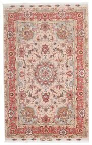 Tabriz 60 Raj Silketrend Tæppe 153X240 Ægte Orientalsk Håndknyttet Mørkerød/Mørkebrun (Uld/Silke, Persien/Iran)