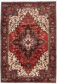 Heriz Tæppe 205X298 Ægte Orientalsk Håndknyttet Mørkerød/Mørkebrun (Uld, Persien/Iran)
