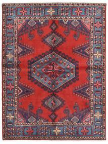 Wiss Tæppe 156X205 Ægte Orientalsk Håndknyttet Mørkelilla/Rust (Uld, Persien/Iran)
