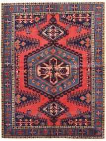 Wiss Tæppe 161X213 Ægte Orientalsk Håndknyttet Mørkelilla/Mørkerød (Uld, Persien/Iran)