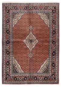 Ardebil Tæppe 144X202 Ægte Orientalsk Håndknyttet Mørkerød/Mørkebrun (Uld, Persien/Iran)