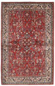 Sarough Tæppe 132X206 Ægte Orientalsk Håndknyttet Mørkerød/Mørkebrun (Uld, Persien/Iran)