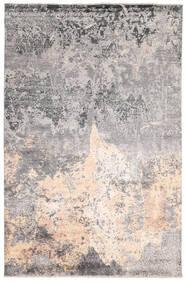 Damask Indisk Tæppe 200X302 Ægte Moderne Håndknyttet Lysegrå/Beige/Mørkegrå (Uld/Bambus Silke, Indien)