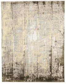 Damask Indisk Tæppe 239X305 Ægte Moderne Håndknyttet Beige/Lysegrå (Uld/Bambus Silke, Indien)