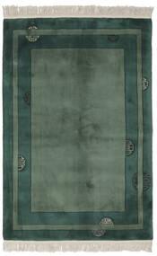 Kina 90 Line Tæppe 140X200 Ægte Orientalsk Håndknyttet Sort/Mørkegrøn/Mørkegrøn (Uld, Kina)