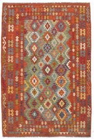 Kelim Afghan Old Style Tæppe 198X292 Ægte Orientalsk Håndvævet (Uld, Afghanistan)