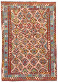 Kelim Afghan Old Style Tæppe 186X253 Ægte Orientalsk Håndvævet (Uld, Afghanistan)