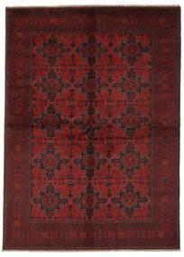 Afghan Khal Mohammadi Tæppe 165X240 Ægte Orientalsk Håndknyttet Sort/Mørkerød (Uld, Afghanistan)
