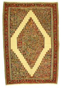Kelim Senneh Tæppe 198X292 Ægte Orientalsk Håndvævet (Uld, Persien/Iran)